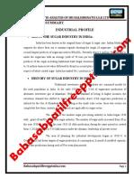 A Project Report on Financial Ratio Analysis of Sri Halsidhnath s.s.k Ltd Nipani