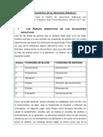 Los Niveles Taxonomicos de Las Situaciones Didacticas