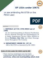 Roles of LGU