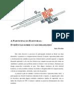 A Participação Eleitoral - Evidências Sobre o Caso Brasileiro