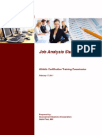 ACTION Certification CPT Job Analysis Report