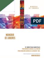 Informe de Labores PGN 2013