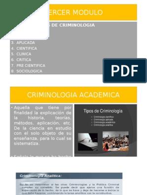 Tercer Modulo Criminología Delito