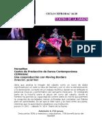 Ciclo de Danza Contemporánea CEPRODAC 16/20 - Teatro de la Danza