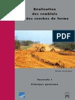 Réalisation Des Remblais Et Des Couches de Forme - Tome 1