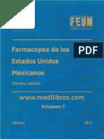 Farmacopea de Los Estados Unidos Mexicanos Tomo II