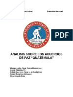 Análisis Acuerdos de Paz Guatemala