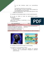 Test mentales psicométricos y proyectivos