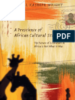a Prescience of African Cultural Studies