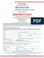 Reception for John Ratcliffe