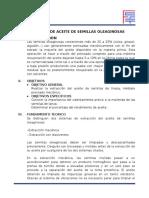 EXTRACCION DE ACEITE DE SEMILLAS OLEAGINOSAS