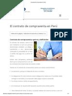 El Contrto de Compraventa en El Perú