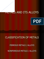Metals and Its Alloys