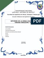 Informe de La Mina Caudalosa - Planeamiento