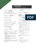Statistics Formula Card Tables