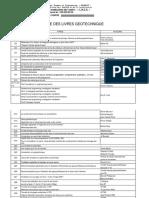 Liste Des Livres Geotechnique