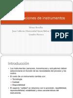 Especificaciones de Instrumentos