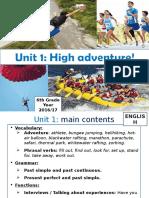English Unit 1 Primary 6th Grade