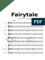 FAIRYTALE Theme From Shrek Score
