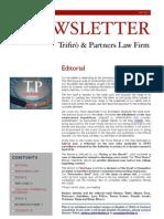 Newsletter T&P N°36 Eng
