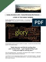 Pastor Bill Kren's Newsletter - November 6, 2016
