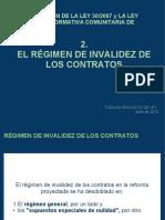 2 Regimen de invalidez contratos en la adaptacion LCSP a Directiva Recursos