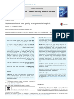 Implementation of Total Quality Management in Hospitals