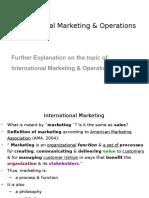 International Marketing & Operations (Definition)