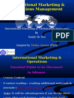 Lecture~1 International & Global Marketing Imperative