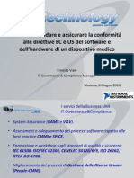 Come convalidare e assicurare la conformità alle direttive EC e US del software e dell'hardware di un dispositivo medico