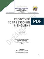 Prototype 2c2ia Lesson Plan in English Gr 2