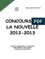 Recueil Nouvelles 2012-2013