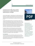 IOM Social Determinants Framework for Healthcare