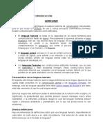 Lenguaje y Comunicacion, sus características y funciones