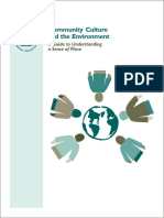 Community Culture and the Environment A Guide to Understanding a Sense of Place • US EPA 2002