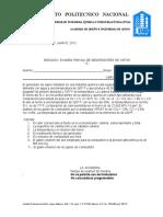 Segundo Examen Parcial a,b Mayo,2012