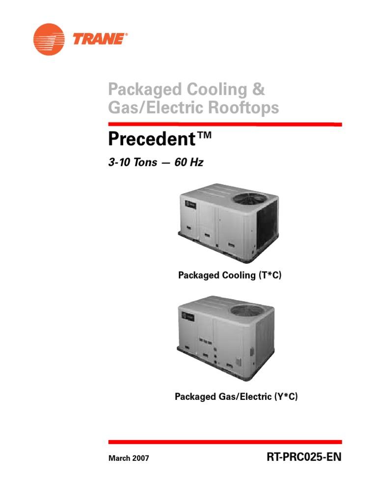 Trane 7 5 to 10 Tons | Hvac | Electric Heating