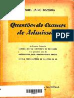 Questões de Exames de Admissão - 1953