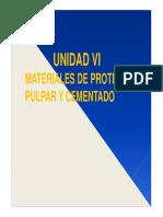 Materiales de Protección Pulpar y Cementa