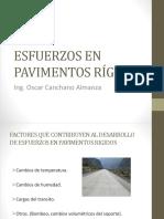 Esfuerzos y Deformaciones en Pavimentos Rígidos