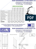 Folding Floor Crane Dimensions