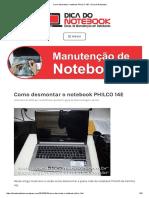 Como Desmontar o Notebook PHILCO 14E