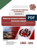 IMPACTO DEL CRECIMIENTO ECONÓMICO  DE CHINA EN LAS EXPORTACIONES PERUANAS