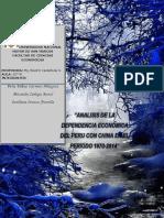 ANÁLISIS DE LA DEPENDENCIA ECONÓMICA DEL PERU CON CHINA EN EL PERIODO 1970-2014