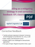 Smiling as a mitigating strategy in oral corrective feedback