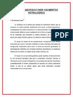 Metodo Geofisico Para Yacimentos Petroliferos