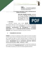 Falsedad Generica y Falsificacion de Dino Max