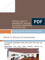 Virtual Reality Parametric Design Program generated Architecture