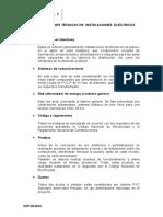Especificaciones Tecnicas - Electricas. 1