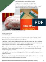 McDonald's Facing Hindu Protests Over Restaurants Near Holy Sites - Telegraph